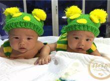 DIY双胞胎宝宝百天照,你可以在家这样拍